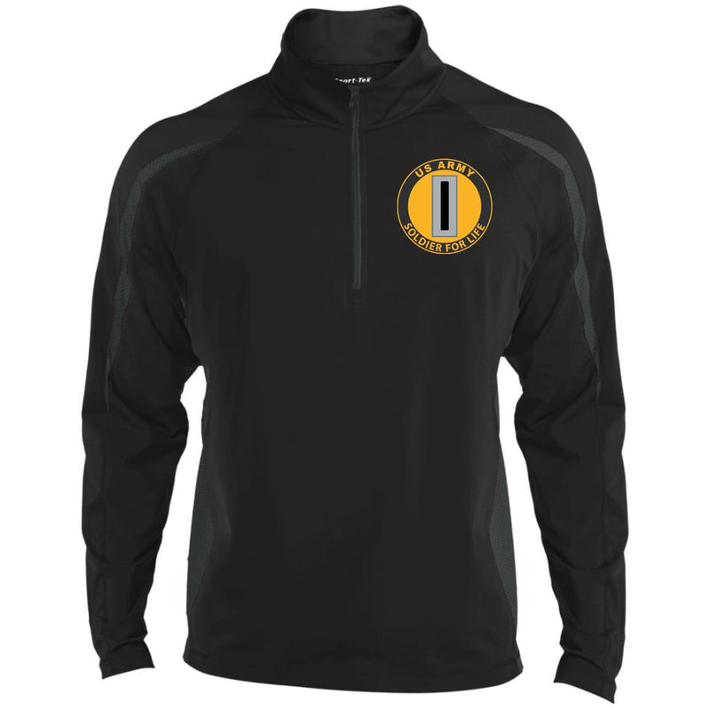 US Army W-5 Chief Warrant Officer 5 W5 CW5 Soldier For Life Embroidered Sport-Tek Pullover V-Neck Windshirt