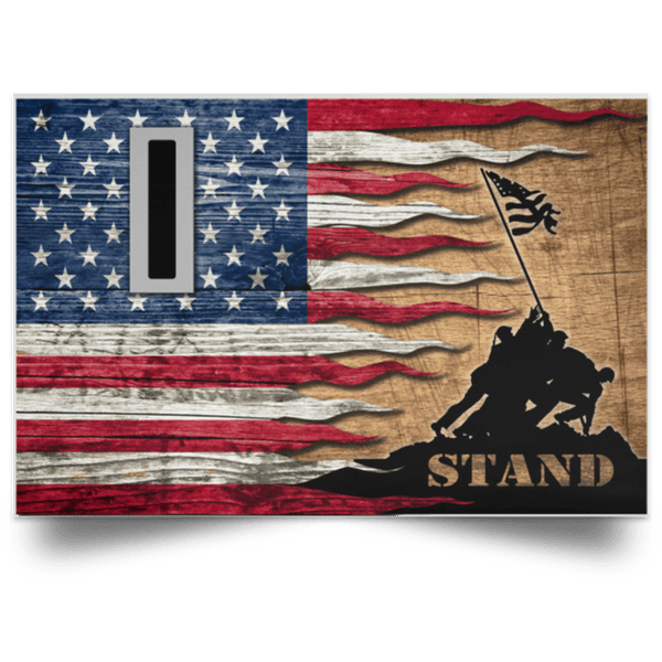 US Army W-5 Chief Warrant Officer 5 W5 CW5 Warrant Officer Stand For The Flag Satin Landscape Poster