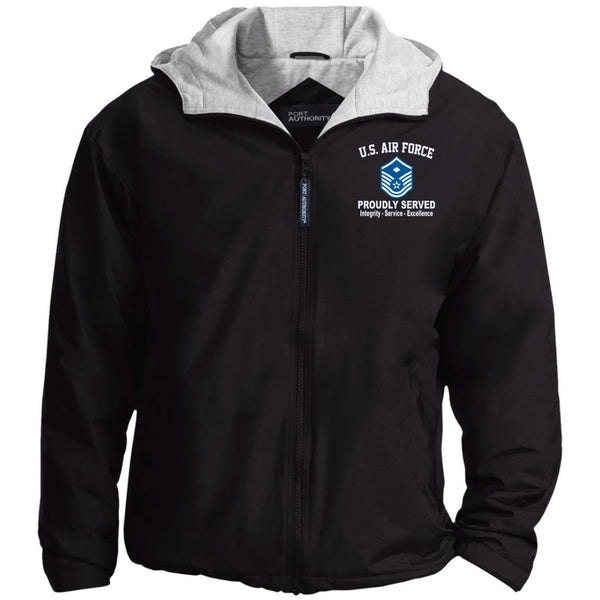 US Air Force E-7 First sergeant E7 Core Values Embroidered Port Authority® Hoodie Team Jacket