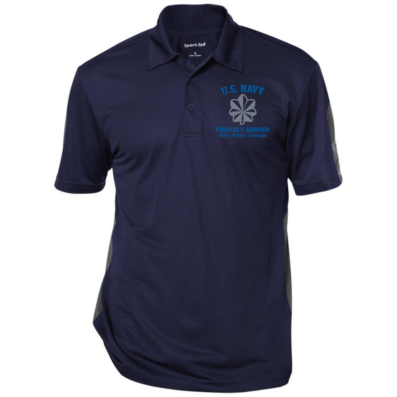 US Navy O-5 Commander O5 CDR Senior Officer Ranks Embroidered Performance Polo Shirt