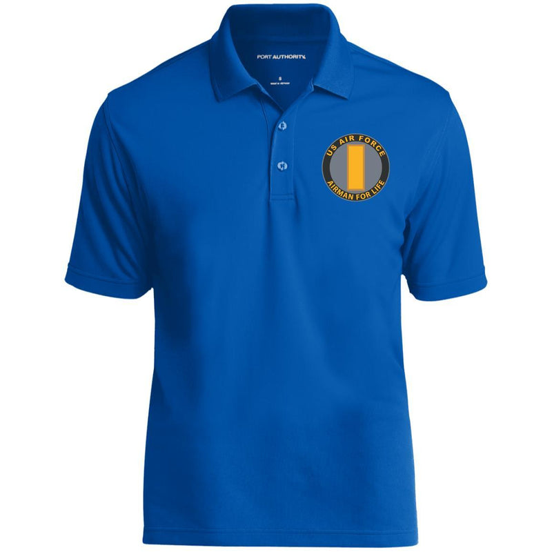 US Air Force O-1 Second Lieutenant 2d Lt O1 Commissioned Officer Airman For Life Embroidered Port Authority® Polo Shirt