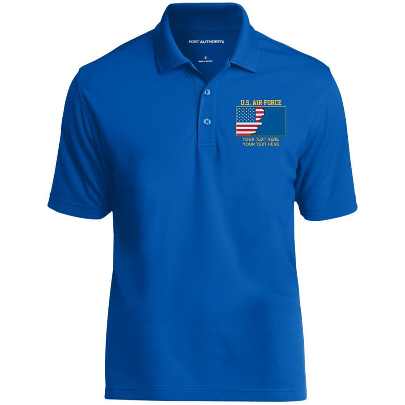 US Air Force Ranks - Personalized Embroidered Port Authority® Polo Shirt