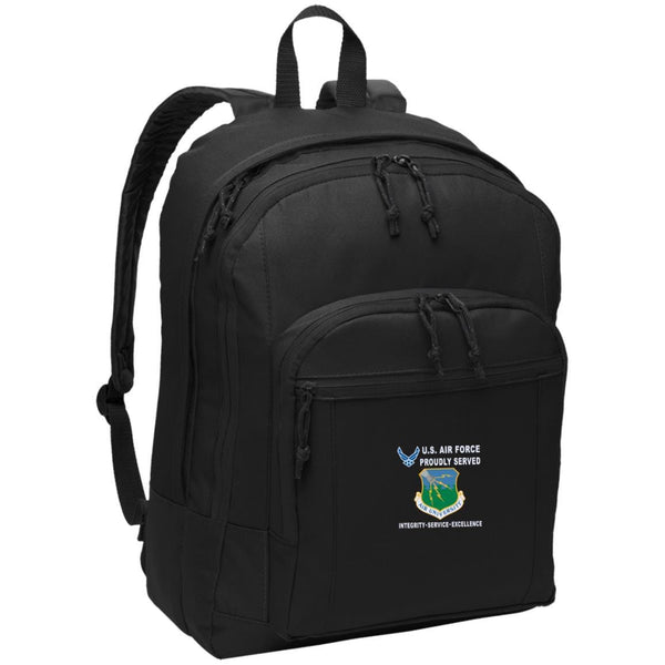 US Air Force Air University Proudly Served-D04 Embroidered Backpack