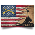 U.S. Army Infantry Stand For The Flag Satin Landscape Poster