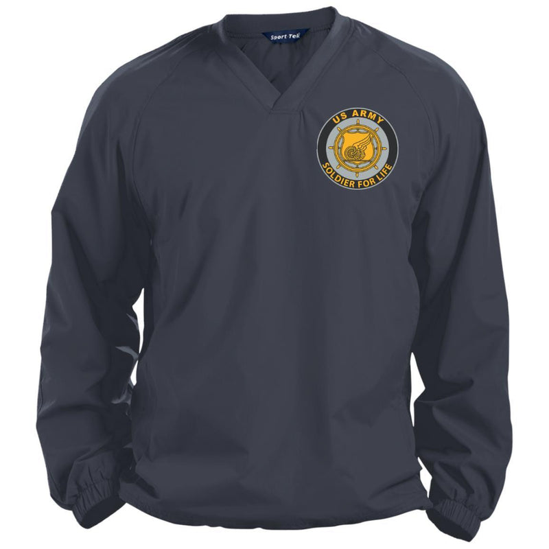 US Army Transportation Corps Soldier For Life Embroidered Sport-Tek Pullover V-Neck Windshirt