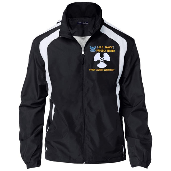 US Navy Machinist's Mate MM - Proudly Served-D04 Embroidered Sport-Tek Jersey-Lined Jacket