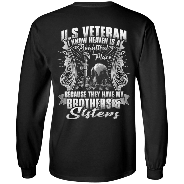 Heaven Is The Beautiful Place With Brothers And Sisters Veteran T Shirt