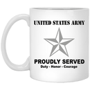 US Army O-7 Brigadier General O7 BG General Officer Ranks White Coffee Mug - Stainless Travel Mug