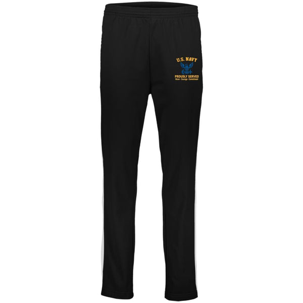 US Navy Logo Proudly Served Embroidered Pants