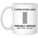 US Army O-2 First Lieutenant O2 1LT Commissioned Officer Ranks White Coffee Mug - Stainless Travel Mug