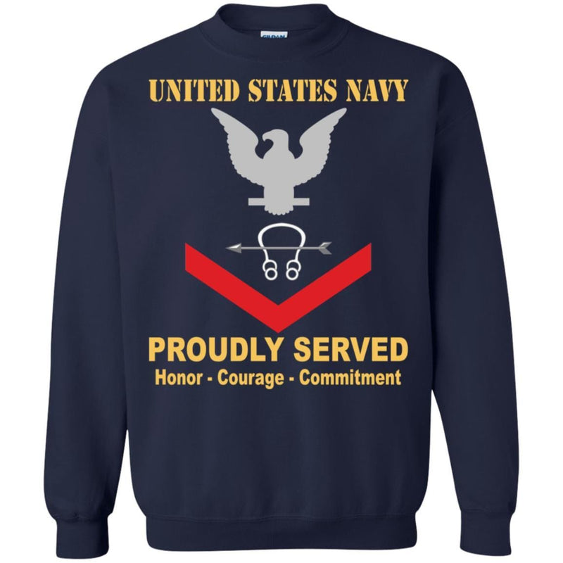 Navy Sonar Technician Navy ST E-4 Rating Badges Proudly Served T-Shirt For Men On Front