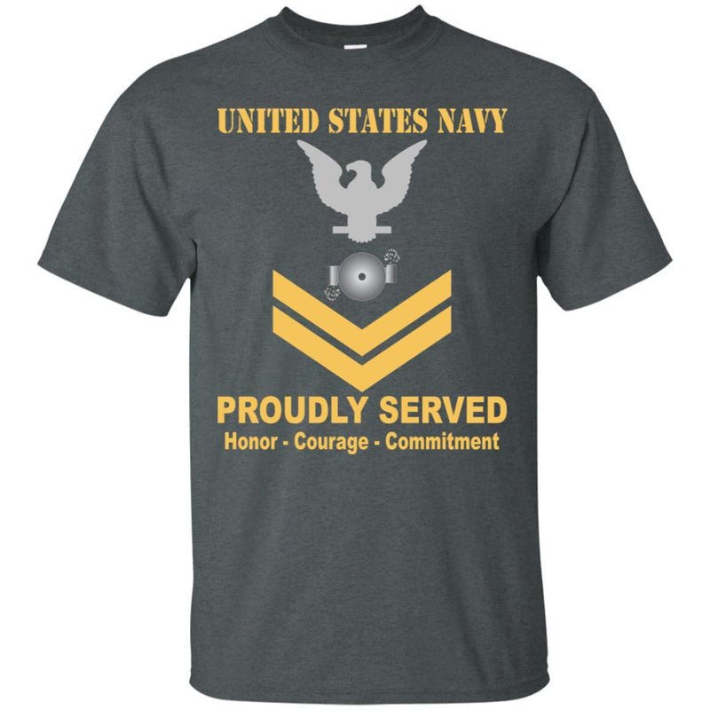 U.S Navy Boiler technician Navy BT E-5 Rating Badges Proudly Served T-Shirt For Men On Front