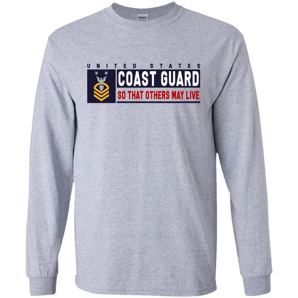 US Coast Guard E-9 Command Master Chief Petty Officer E9 CMC So That Others May Live Long Sleeve - Pullover Hoodie