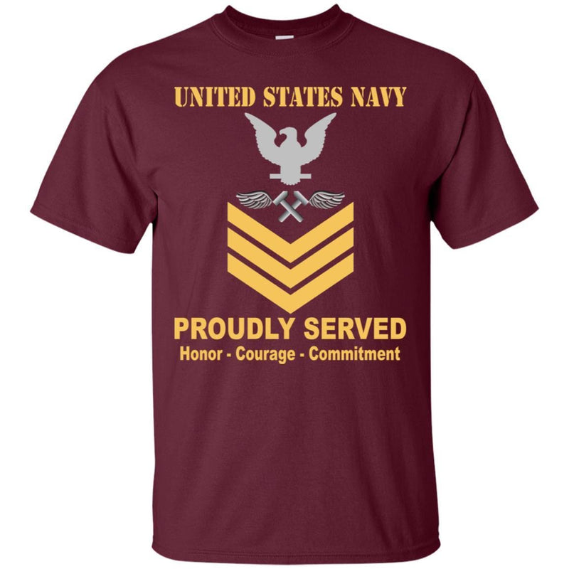 Navy Aviation Structural Mechanic Navy AM E-6 Rating Badges Proudly Served T-Shirt For Men On Front