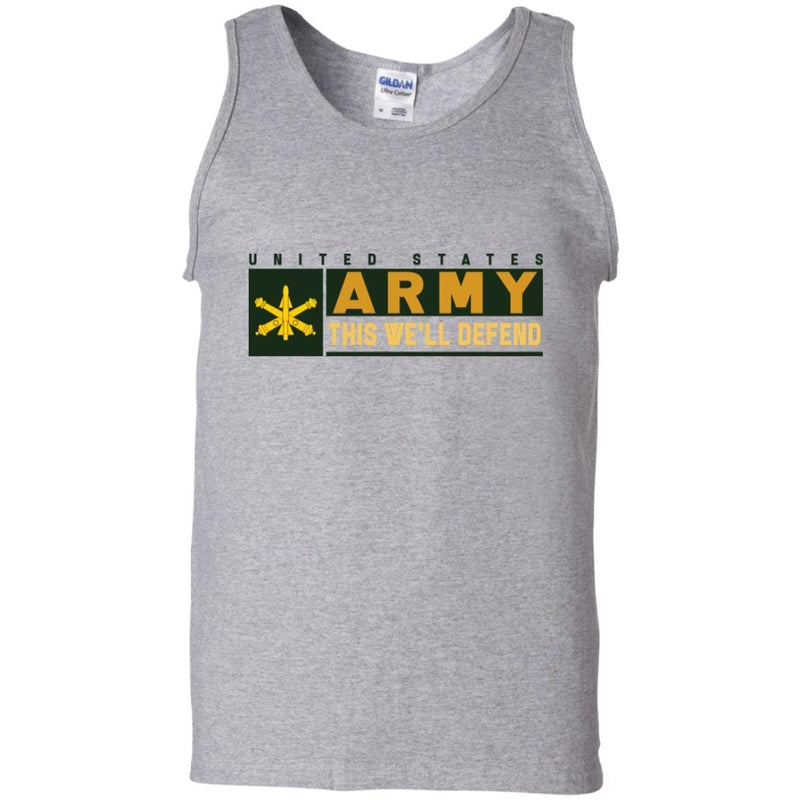 US Army Air Defense Artillery- This We'll Defend T-Shirt On Front For Men