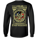 Army Veteran Have the Right To Bear Arms Men Back T Shirts
