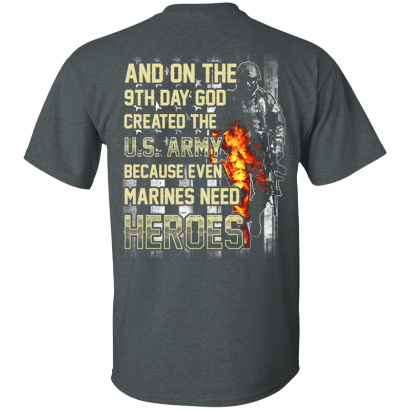 On The 9th Day God Created The US Army T Shirt
