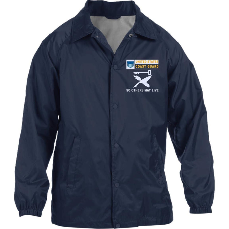 US Coast Guard Culinary Specialist CS- So others may live Embroidered Sport-Tek Jersey-Lined Jacket