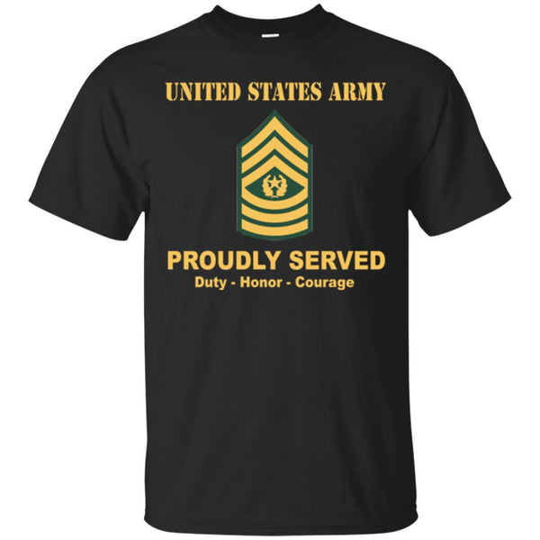 US Army E-9 Command Sergeant Major E9 CSM Noncommissioned Officer Ranks Men Front Shirt US Army Rank
