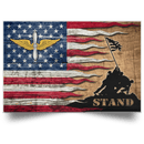 US Army Aviation Stand For The Flag Satin Landscape Poster