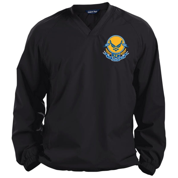 US Air Force Symbol Logo Birthday 72nd Embroidered Sport-Tek Pullover V-Neck Windshirt