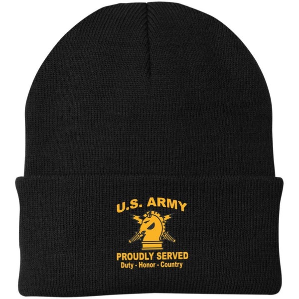 US Army Psychological Ops Proudly Served Military Mottos Embroidered Port Authority Knit Cap