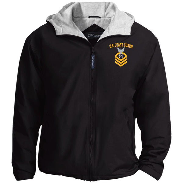 US Coast Guard Boatswains Mate BM E-7 Rating Badges Embroidered Port Authority® Hoodie Team Jacket