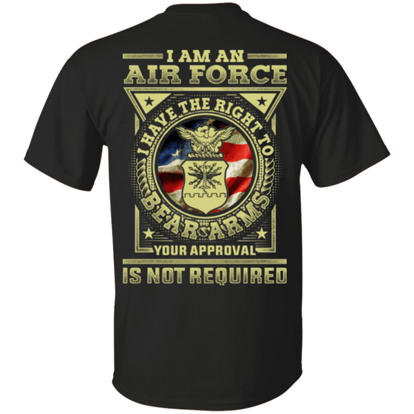 AirForce Veteran Have the Right To Bear Arms Men Back T Shirts