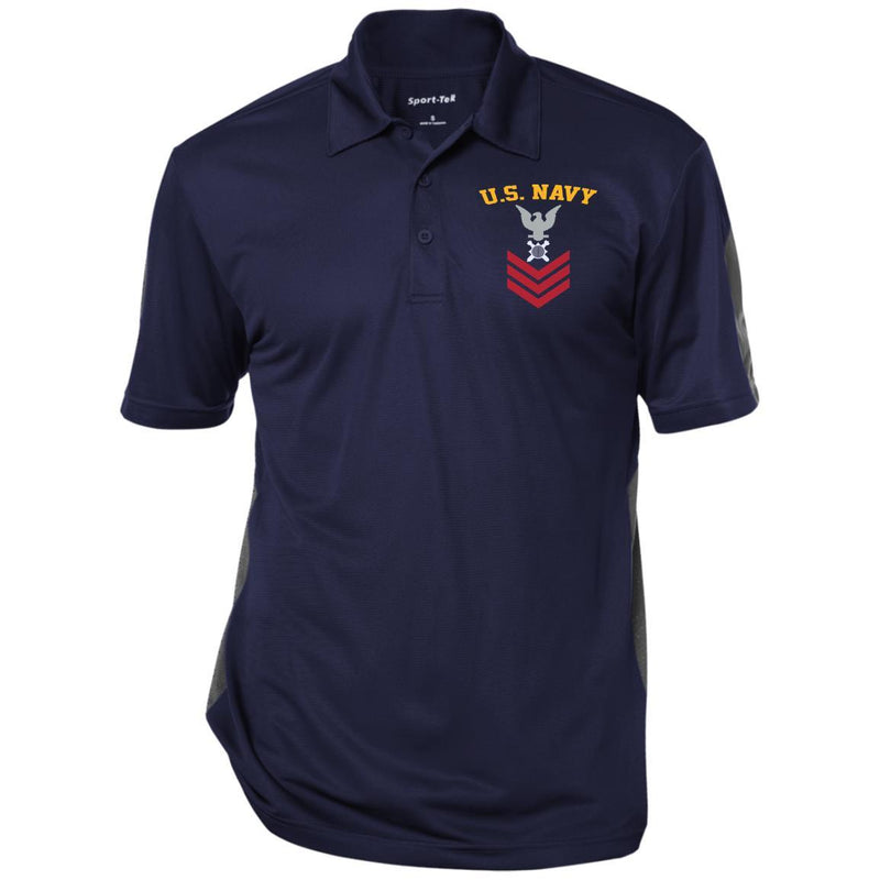 US Navy Explosive Ordnance Disposal EOD E-6 Rating Badges Embroidered Sport-Tek Performance Polo Shirt