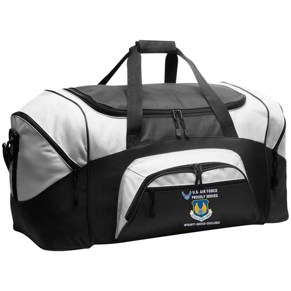US Air Force Materiel Command Proudly Served-D04 Embroidered Duffel Bag