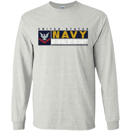 US Navy E-4 Petty Officer Third Class E4 PO3 Not For Self, But For Country Long Sleeve - Pullover Hoodie
