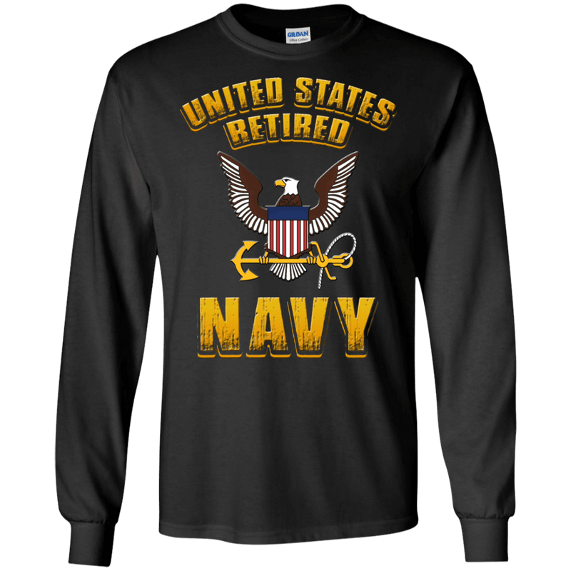 US Retired Navy Front T Shirts