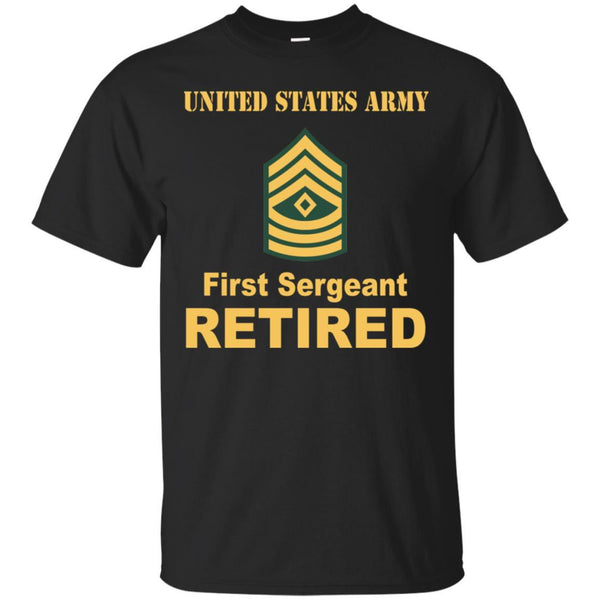 US Army E-8 First Sergeant E8 1SG Noncommissioned Officer Retired Men T Shirt On Front