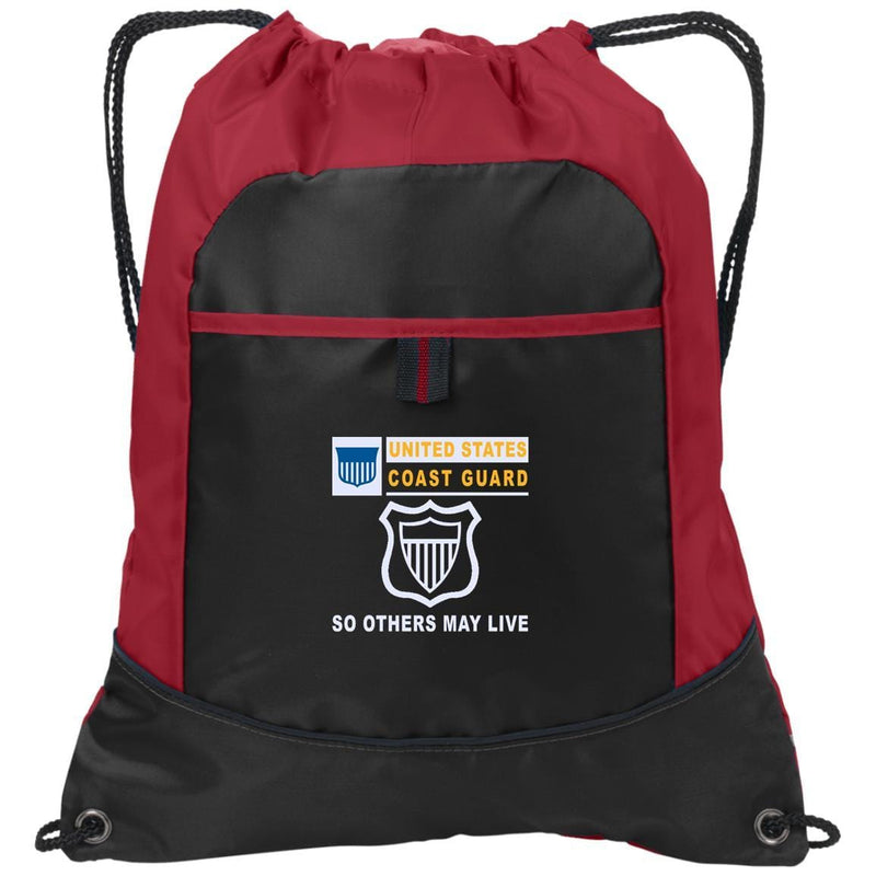 US Coast Guard Maritime Enforcement ME- So others may live Embroidered Active Sling Pack