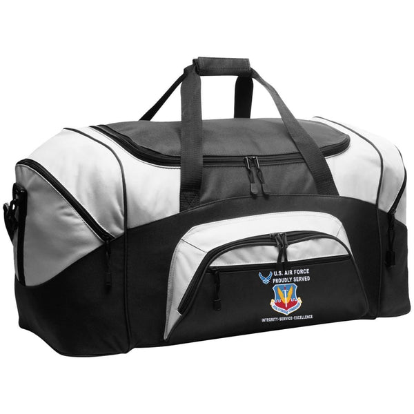 US Air Force Air Combat Command Proudly Served-D04 Embroidered Duffel Bag