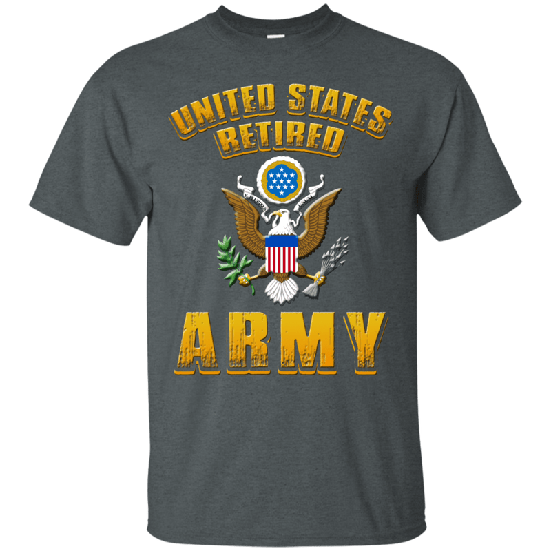US Retired Army Veteran Front T Shirts