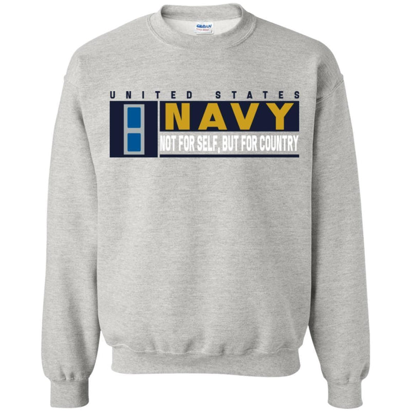 US Navy W-3 Chief Warrant Officer Not For Self, But For Country Long Sleeve - Pullover Hoodie