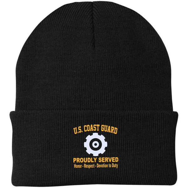 US Coast Guard Machinery Technician MK Logo Embroidered Port Authority Knit Cap