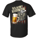 US Army Drinking Bear Team Back T Shirts