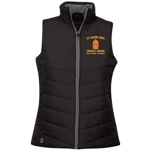 M.Corps E-9 sgtMa Embroidered Holloway Ladies' Quilted Vest