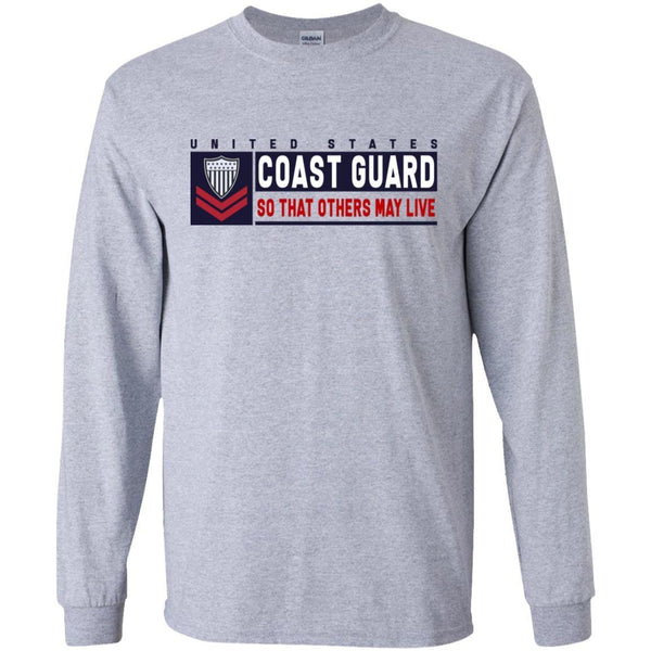 US Coast Guard E-5 Petty Officer Second Class E5 PO2 So That Others May Live Long Sleeve - Pullover Hoodie