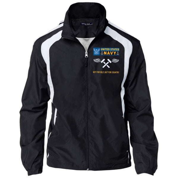 US Navy Aviation Structural Mechanic AM- Not For Self, But For Country Embroidered Sport-Tek Jersey-Lined Jacket