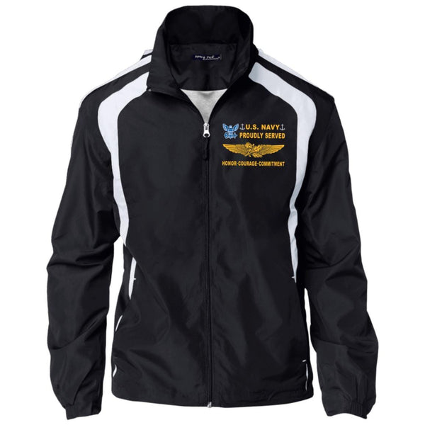 Naval Aviation Supply Officer Proudly Served D04 Embroidered Sport-Tek Jersey-Lined Jacket