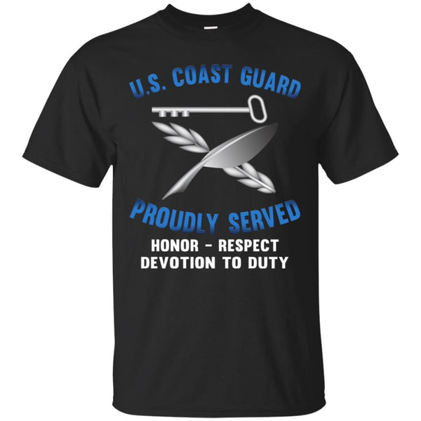USCG CULINARY SPECIALIST CS Logo Proudly Served T-Shirt For Men On Front