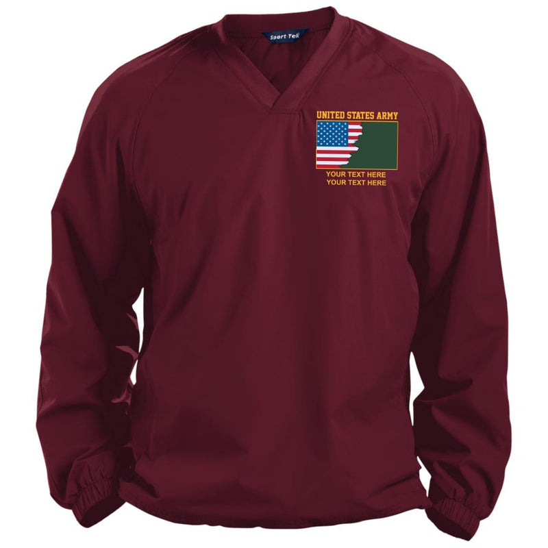 US Army Branch - Personalized Embroidered Sport-Tek® Pullover V-Neck Windshirt