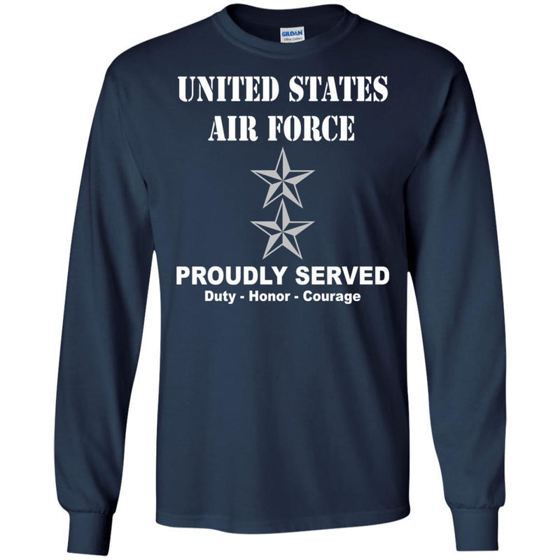 US Air Force O-8 Major General Maj G O8 General Officer Ranks Men Front T Shirt For Air Force