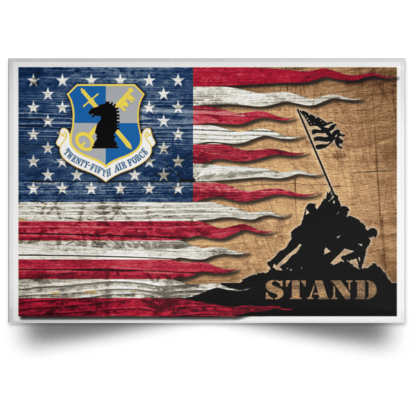 Air Force Intelligence Command Stand For The Flag Satin Landscape Poster