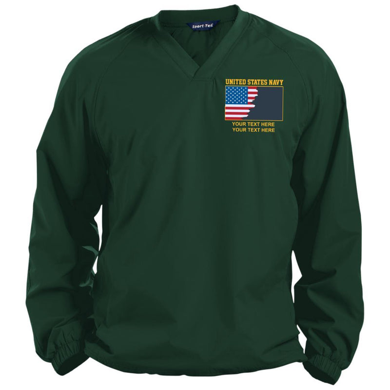 US Navy Rate - Personalized Embroidered Sport-Tek® Pullover V-Neck Windshirt