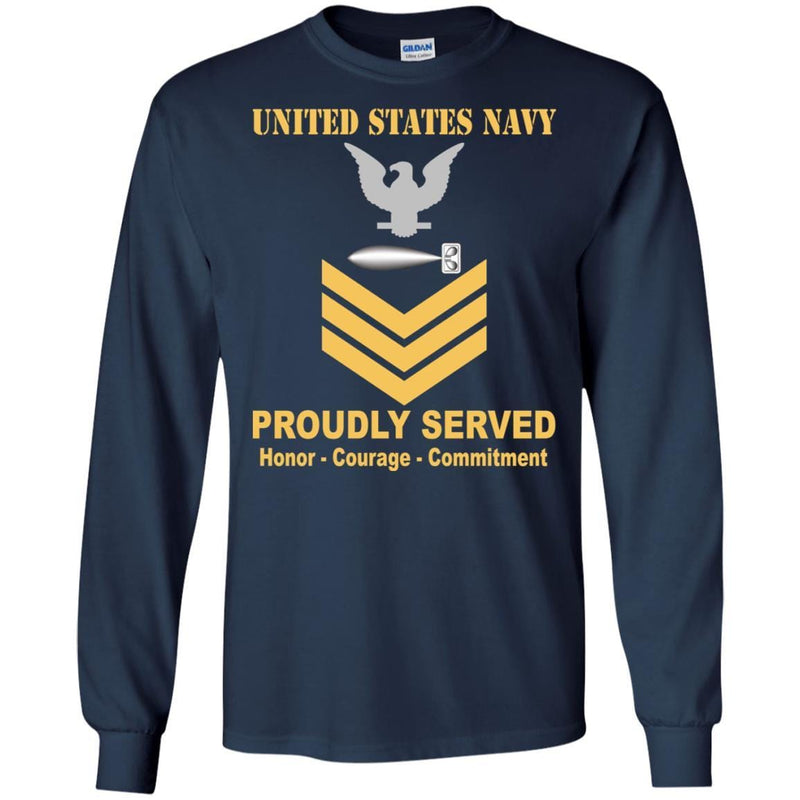 U.S Navy Torpedoman's mate Navy TM E-6 Rating Badges Proudly Served T-Shirt For Men On Front