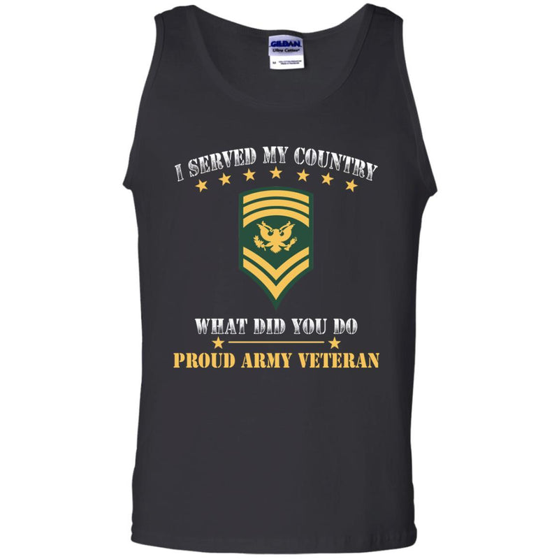 US Army E-9 SPC E9 Specialist Ranks Men Front T Shirt - Proud US Army Veteran